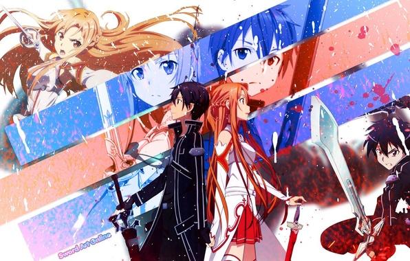 Picture Sword art online, Yuuki Asuna, Sword Art Online, Kirito, Kirigaya Kazuto, SAO, Asuna, Kirito