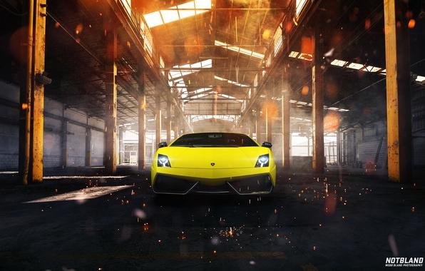 Picture lights, Lamborghini, hangar, before, Superleggera, Gallardo, LP 570-4, notbland, Webb Bland