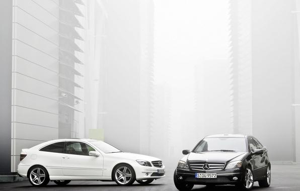 Picture Mercedes, white, black