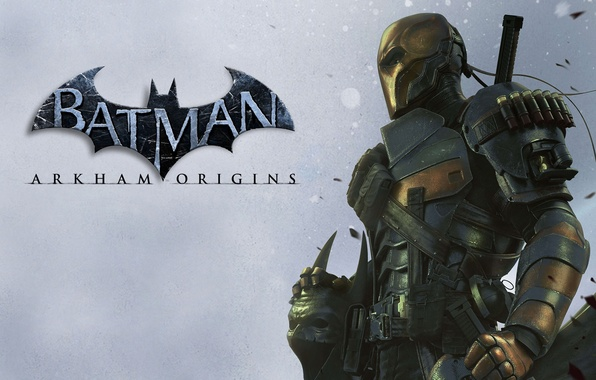 Picture sword, mask, logo, armor, cartridges, grenades, mercenary, assassin, Terminator, clip, Terminator, antihero, Batman: Arkham Origins, …