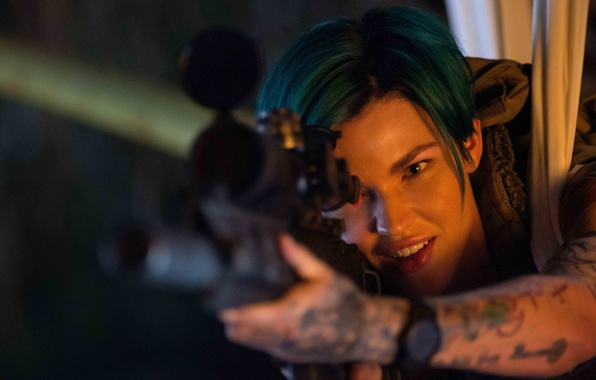 Picture cinema, wallpaper, girl, gun, hitman, weapon, woman, beautiful, pretty, movie, tatoo, face, sniper, assassin, film, …
