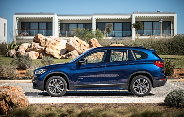 Picture blue, stones, BMW, BMW, xDrive, SUV, Sport Line, 2015, F48