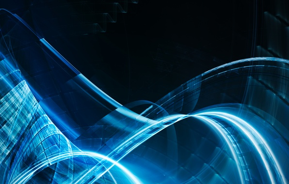 Picture transparency, line, blue, glow, curves
