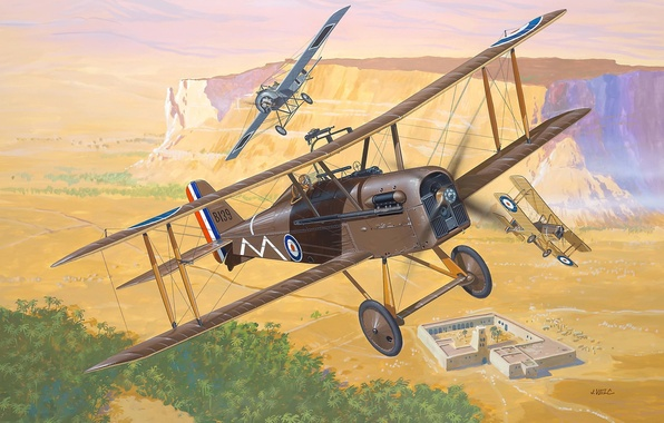 Picture the plane, one, fighter, art, BBC, biplane, English, single, fighters, UK, The first world war, …