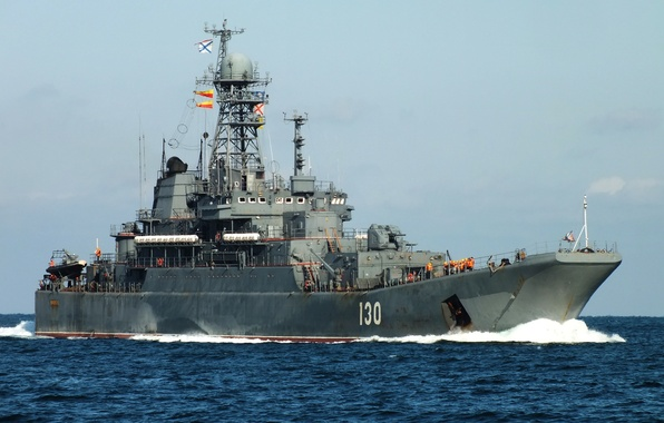 """Picture large, Russia, landing ship, project 775, """"Queens"""""""