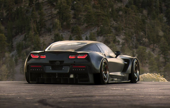 Picture Corvette, Chevrolet, Car, Race, Black, Tuning, Future, by Khyzyl Saleem