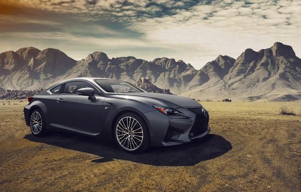 Picture Lexus, Car, Clouds, Landscapes, Mountains, Sport, Dynamic, RC-F, Fancy, Composite