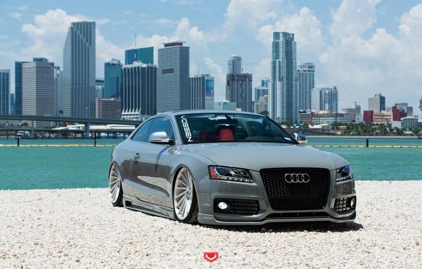 Picture machine, auto, water, Audi, Audi, before, wheels, drives, auto, Vossen Wheels