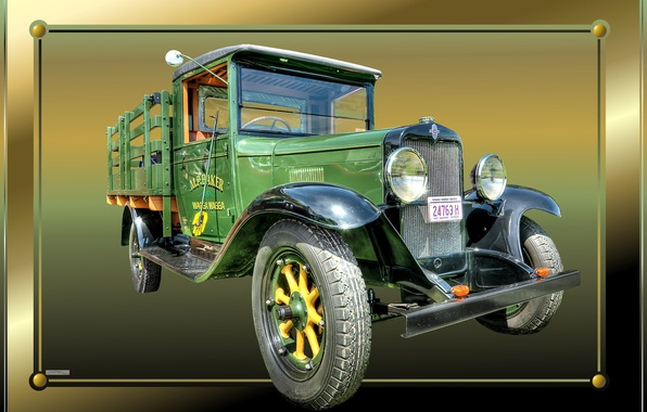 Picture frame, truck, old, rarity, vintage