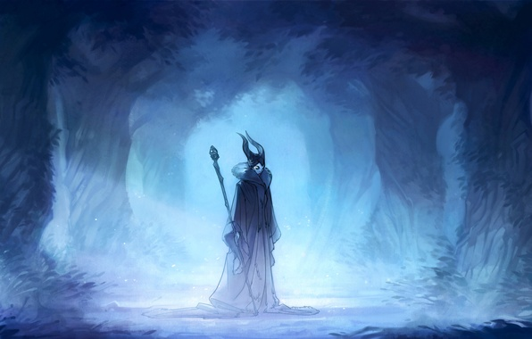 Picture forest, art, the witch, Maleficent, Maleficent