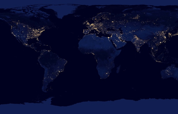 Picture space, light, night, lights, earth, planet, map, NASA, NASA Goddard Space Flight Center, the continents