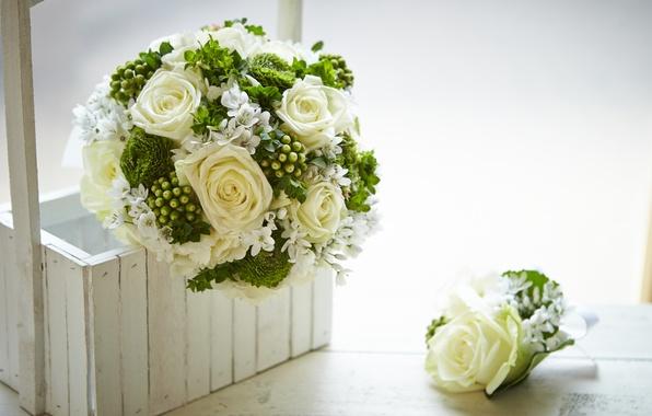 Picture flowers, box, roses, bouquet, box, flowers, bouquet-roses