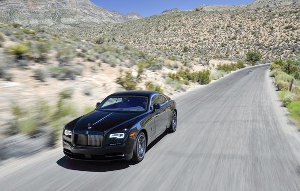 Picture auto, black, speed, Rolls-Royce, black, speed, rolls-Royce, Wraith, Black Badge. car