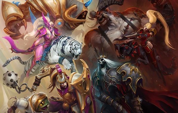 Picture girl, the demon, demon, battlefield, girl, undead, battlefield, undead, Nova, Diablo, night elf, WarCraft, Nova, …