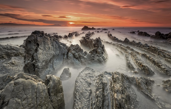 Picture the ocean, dawn, coast