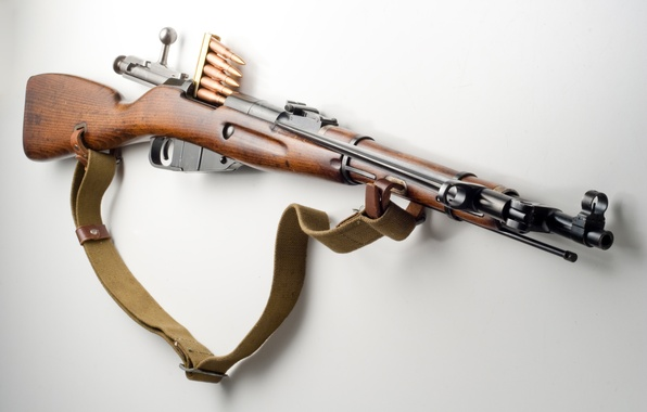 Picture weapons, cartridges, rifle, trehlinejka, Mosin rifle