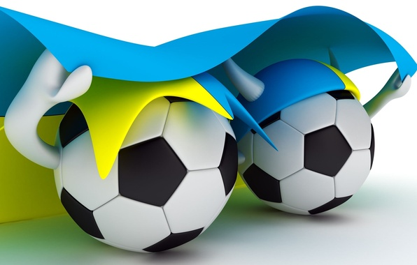 Picture football, sport, the ball, flag, 2012, Ukraine