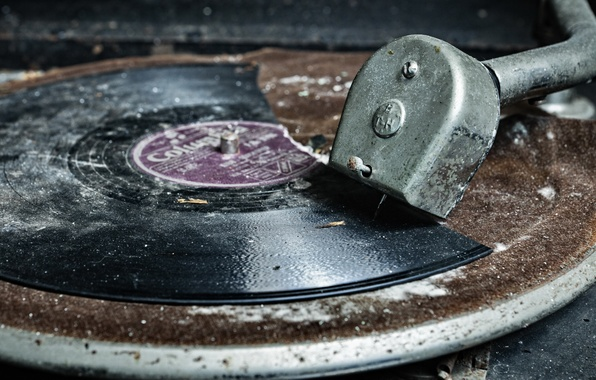Picture macro, record, gramophone