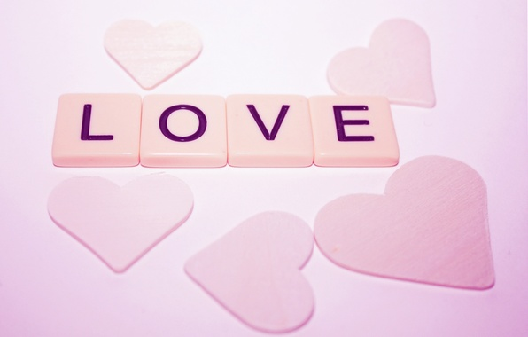 Picture macro, love, letters, mood, the inscription, heart, hearts, love, pink, heart, macro, valentine's day