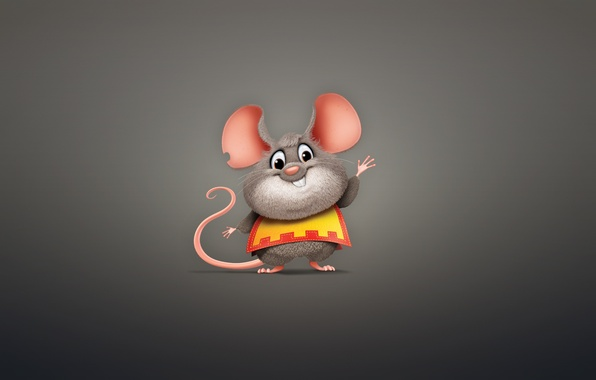 Picture animal, minimalism, mouse, rodent, mouse, chubby