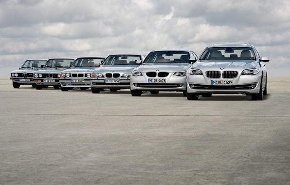 Picture road, clouds, machine, road, clouds, bmw 5 auto