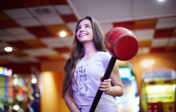 Picture girl, joy, face, hair, hammer, Darina, the world of entertainment