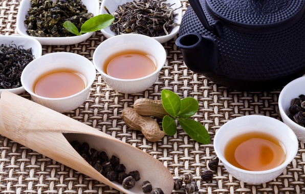 Picture tea, kettle, Cup, nuts, welding, tea ceremony, bowls