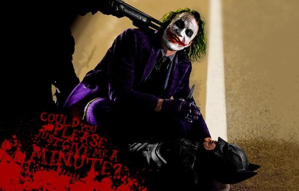 Picture Joker, Batman, the dark knight