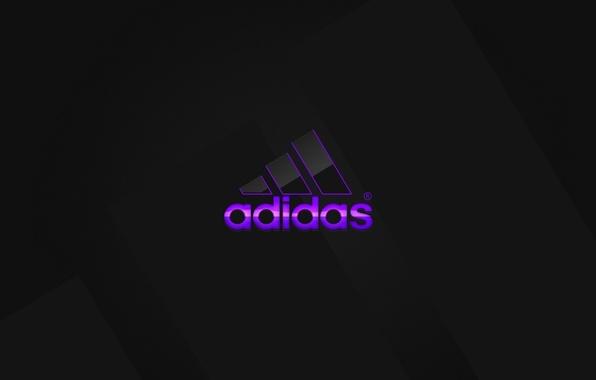 Picture purple, logo, logo, Adidas, adidas