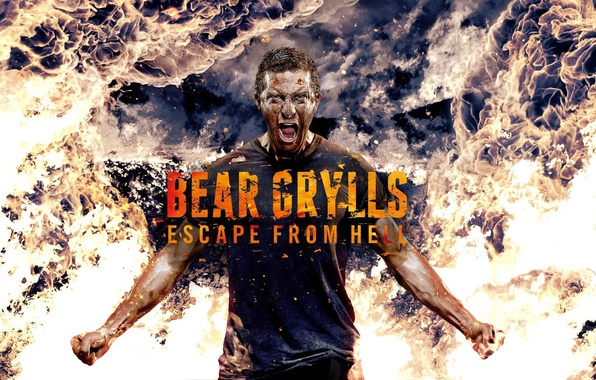 Picture fire, man, escape, discovery, discovery, bear grylls, vedmed, bear, the grilsom, to survive at any …