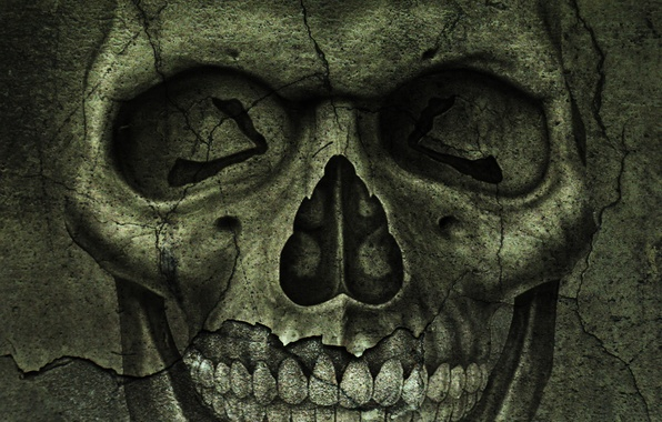 Picture cracked, skull, texture