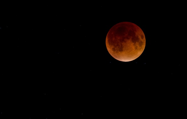 Picture stars, the moon, satellite, Eclipse, Moon, bloody