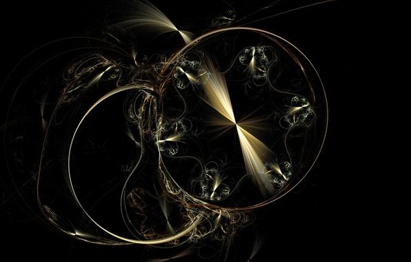 Picture background, figure, black, fractal