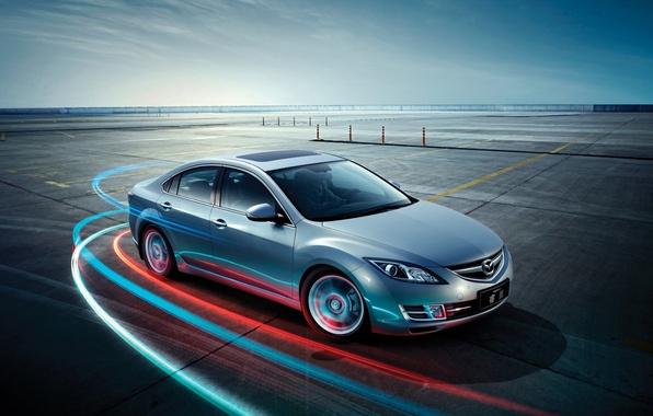 Picture the sky, Mazda, Mazda, the front, hatchback, Hatchback