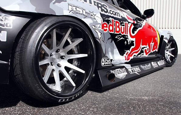 Picture Mazda, Drift, Tuning, Team, RX-8, Competition, Wheels, Rims, Widebody, Sportcar, Spoiler, Red-Bull Racing, Exhaust