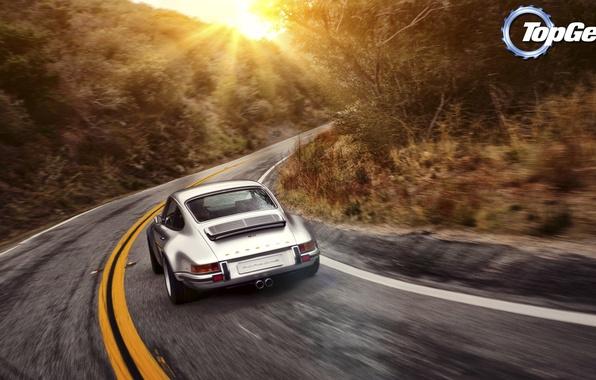Picture road, the sun, 911, Porsche, Top Gear, Porsche, the best TV show, top gear, top …