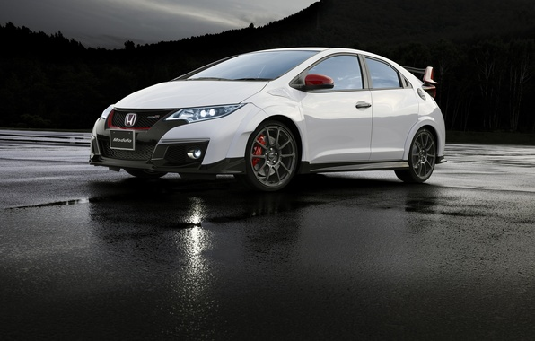 Picture white, Honda, Honda, Civic, civici, Type R, Modulo