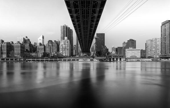 Picture bridge, New York, megapolis, New York, Island, Queensboro Bridge, Roosevelt