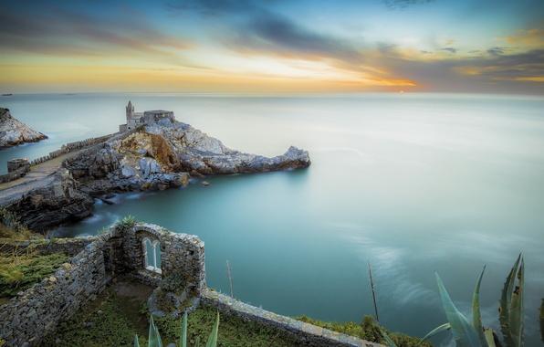 Picture sea, the city, Italy, Portovenere