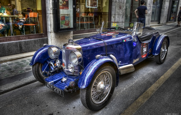 Picture hdr, style, retro, old, classic, blue dream