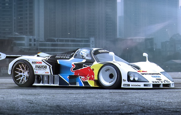 Picture Mazda, Car, Race, Day, Tuning, Future, Track, by Khyzyl Saleem, 787b