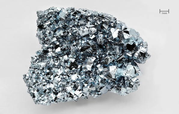 Picture crystal, faces, osmium