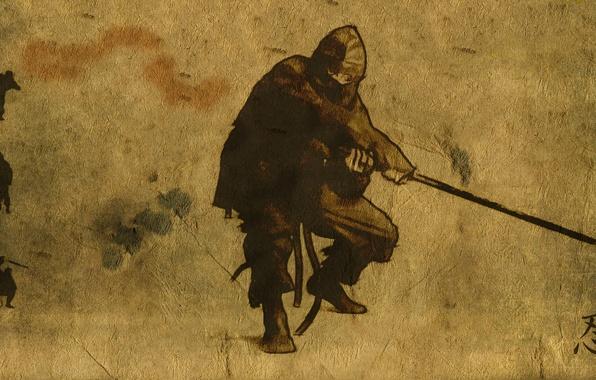Picture weapons, background, ninja, ninja