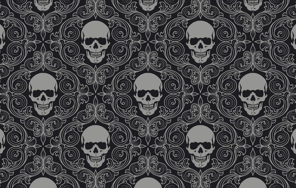Picture background, wall, pattern, color, skull, texture, ornament