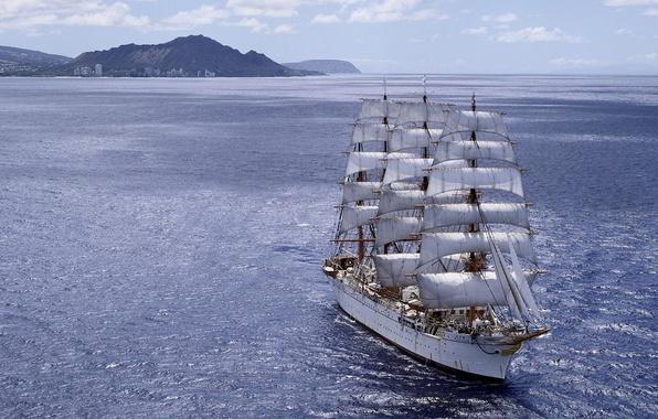 Picture sea, ship, sailboat