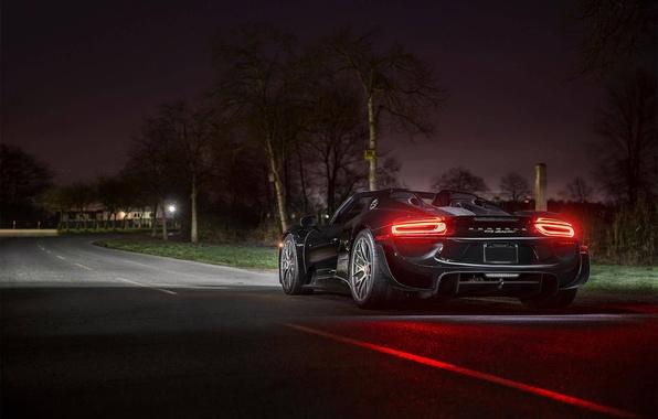 Picture auto, night, black, lights, sports car, sportcar