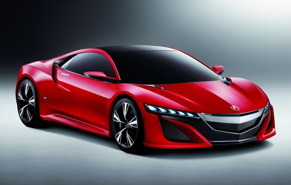 Picture red, background, concept, supercar, the front, acura, nsx, Acura