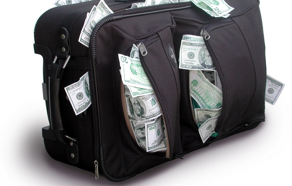 Picture money, dollars, bags