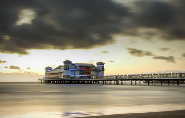 Picture the ocean, pierce, promenade, England, Paignton Pier, Paignton
