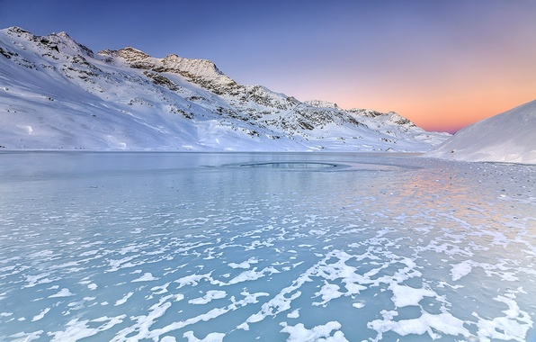 Picture Sky, Winter, Sun, Water, Mountain, Snow, White, Sunrise, Ice, Lake, Cold, Alba, Neve, Engadine, Inverno, …